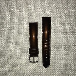 Michele 18mm Brown Patent Band